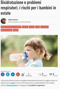 paginemediche.it - Problemi respiratori in estate- l'iniziativa dell'Istituto Pio XII