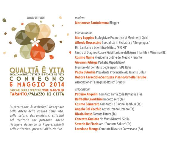Inquinamento e storie d'italia - Convegno Taranto - 5 maggio 2014
