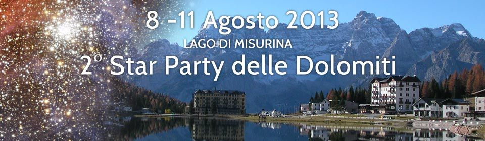 II STAR PARTY DELLE DOLOMITI 2013