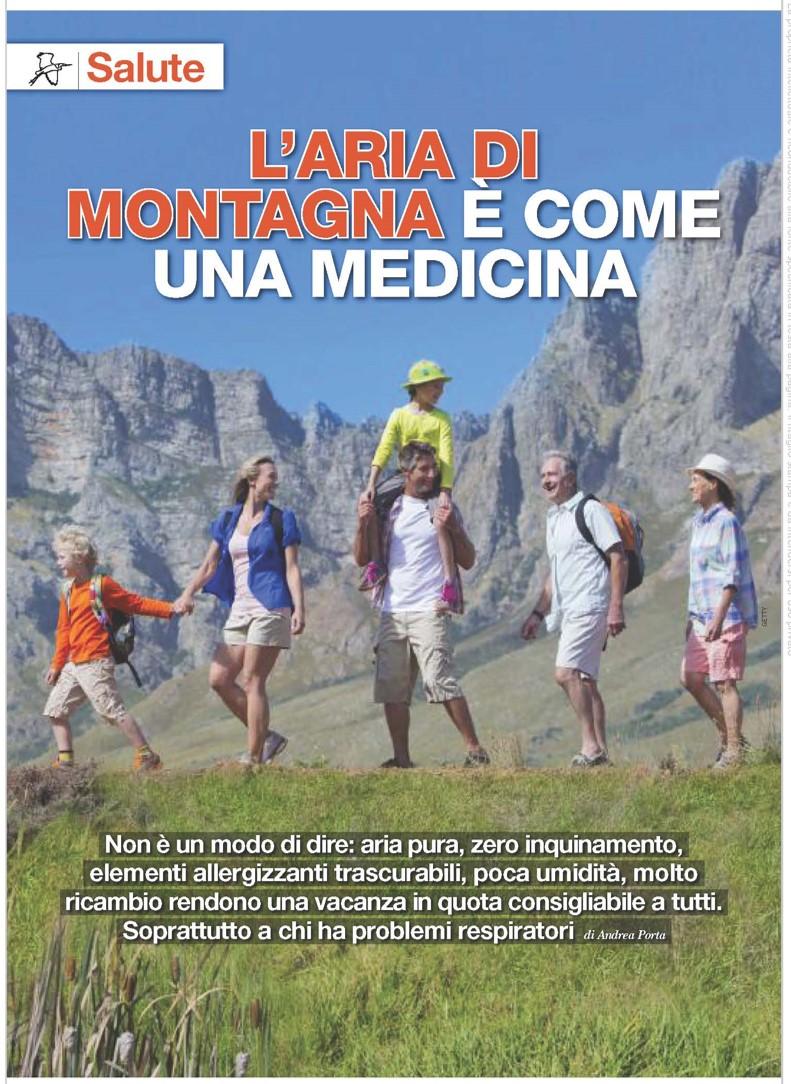Articolo pubblicato su l'Airone di Luglio - L'aria di montagna è come una medicina